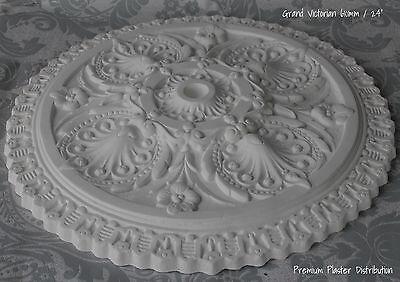 "Plaster Ceiling Rose Grand Victorian Design 610 mm / 24"" Hand Made"