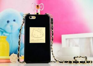 Hello-Kitty-Perfume-Bling-jewlellery-Colorido-Cubierta-De-La-Caja-para-iPhone-amp
