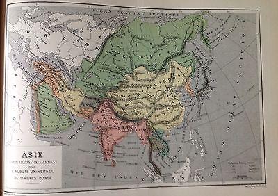 Asia Map c1900 Antique Rare French Original Old Vintage c1900