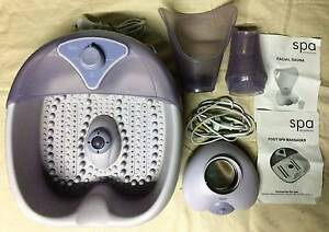 Face & Feet 2pc Pamper Pack - Facial Sauna & Foot Spa Massager Albury Albury Area Preview