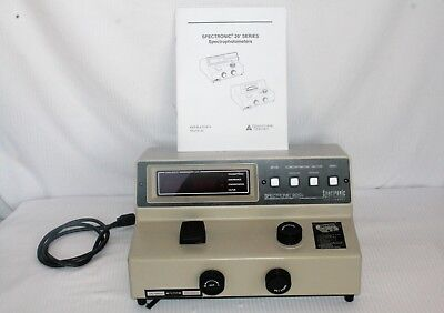 Spectronic 20d Spectrophotometer Model 333183 Original Manual Tested Working