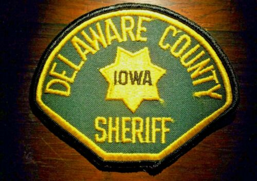 GEMSCO NOS Vintage Collectible Patch SHERIFF DELAWARE COUNTY IA - Original 45+