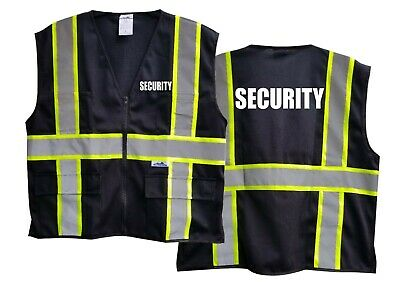 Class 2 Enhanced Visibility Black Security Vest