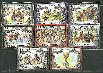 ST VINCENT 979-79G MNH THE LEGEND OF KING ARTHUR SCV 9.65