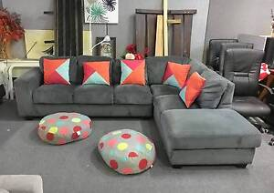 TODAY DELIVERY BEAUTIFUL MODERN GREY COMFORT L shape corner sofa Belmont Belmont Area Preview