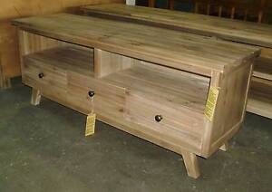 TV UNIT IN BRUSHED ACACIA RETRO STYLE 1500 W X 600 H  X 450 D Thebarton West Torrens Area Preview