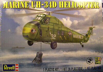 Plastic Model Helicopter (MARINE UH-34D HELICOPTER REVELL 1:48 SCALE PLASTIC MODEL)