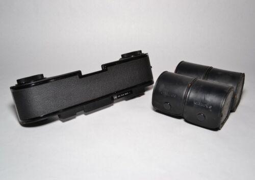 Olympus OM System 250 Film Back 1 & 4 250 Film Magazines w. Leather Cases - Rare