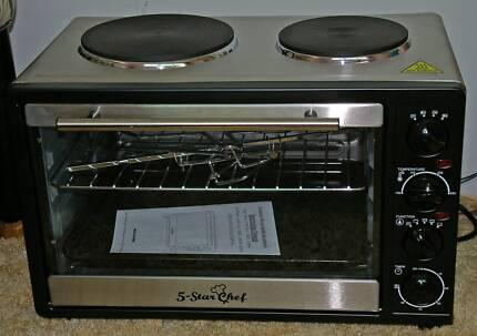 5 Star Chef Convection Benchtop Oven with Rotisserie
