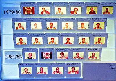 1979-82 NBA TV card / slide tm sets Detroit Pistons U PICK Thomas Shumate Lanier ()
