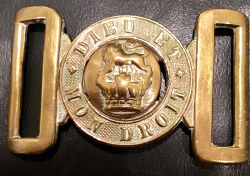 Victorian (1837-1901) British Army Brass Belt Buckle, Victorian Crown, UK