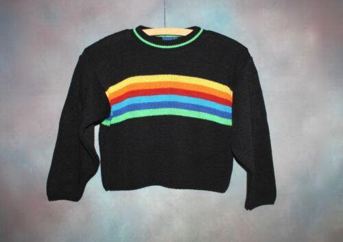 Vintage Utility Rainbow Knit Sweater Kid