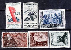 R42-REPUBBLICA-1952-n-6-francobolli-n-693-698-702-704-705-706