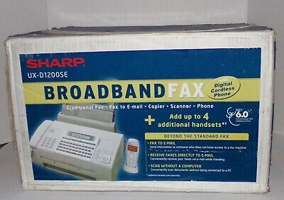 Sharp Ux-d1200se Broadband Fax Machine - Brand New In Box