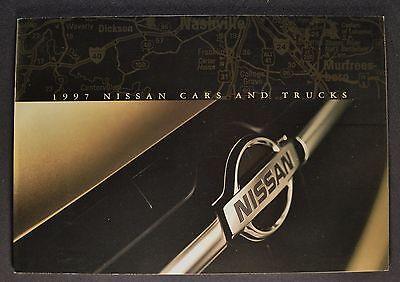 1997 Nissan Brochure Maxima Altima Sentra 240SX 200SX Pathfinder Quest Pickup 97