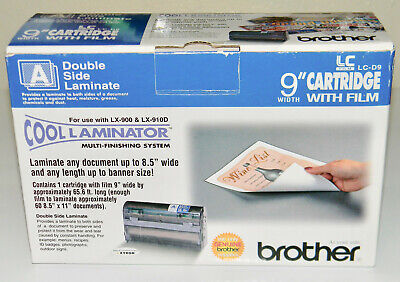 Genuine Brother Lc-d9 Cool Laminator 9 Cartridge W Film Double Side Laminate