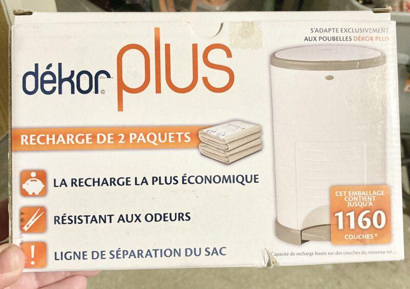 Dekor Plus Diapers Pail Refill 2 pack fits only dekor plus size pails new ob