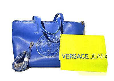 Versace Jeans Women'sBluetteLeather Studded Tote Handbag Nwt