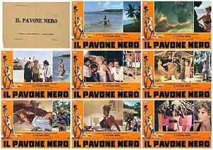 IL-PAVONE-NERO-SET-FOTOBUSTA-8-EROTICO-KARIN-SCHUBERT-SEXY-1974-USED-LOBBY-CARD