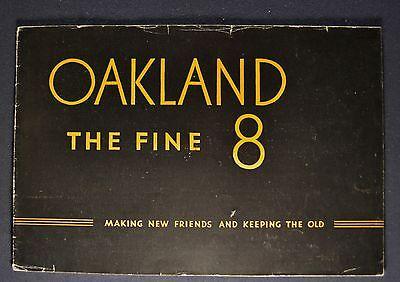 1931 Oakland Eight 8 Catalog Sales Brochure Nice Original 31