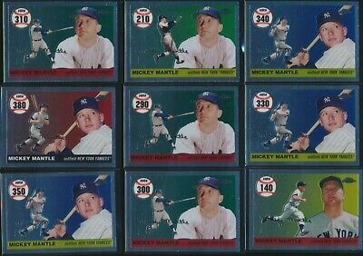 2007 Topps Chrome Mickey Mantle - 2007 Topps Chrome Mickey Mantle Home Run History - Pick from List - Qty Discount