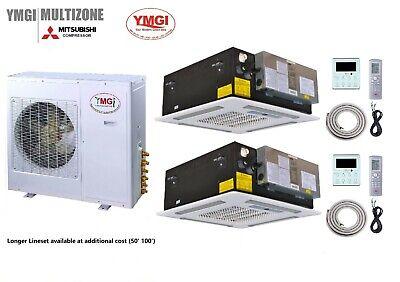 YMGI Dual Zone - 48000 BTU  Wall Mounted Mini Split Air Cond