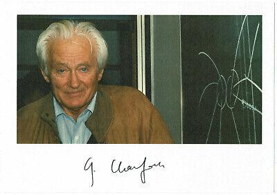 Georges Charpak  hand signed Autograph Autogramm COA Zertifikat NOBELPREISTRÄGER