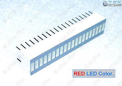 1 pcs RED 20-Segs LED BARGRAPH [for LED VU Meter Arduino Light Bar Graph] - USA Bar Graph Meter
