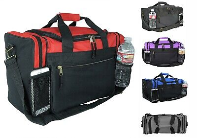 Kids Size Duffle Duffel Bag Travel Gym Bag Carry-On Red Black Blue Gold Gray 17