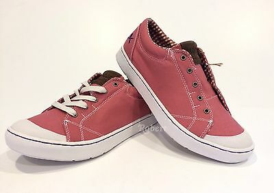 Mozo The Maven Picnic Sneakers Slip Resistant Pink Canvas Us Size 10  New