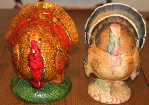 2 Ceramic Turkeys