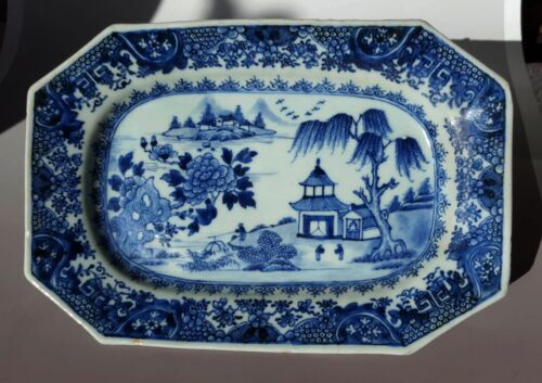 Antique Chinese 18th C  Deep Plate Qianlong Period 26.3cm