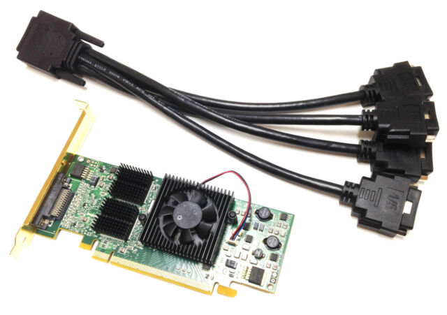 128MB MATROX Graphics Card PCI , QID-E128LPAF, KX-20, high profile incl. Cable