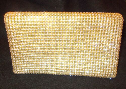 """Exquisite Oroton Austrian Crystal Evening Clutch 8"""" long"""