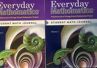 (Everyday Mathematics Grade 6 Student Journal Workbooks Volumes 1 & 2 Set **NEW**)