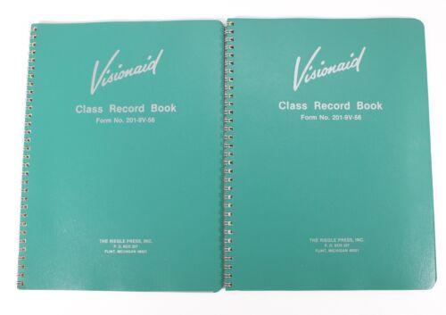 Visionaid Teachers Grade Book/Class Record Book 9 Weeks Lot of 2
