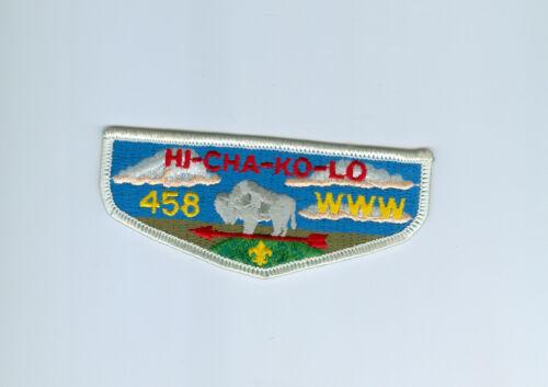 OA  Lodge 458 Hi-Cha-Ko-Lo flap