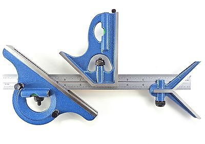 Blem Cosmetic Second Pec 18 16r 4 Pc Combination Machinist Square Protractor