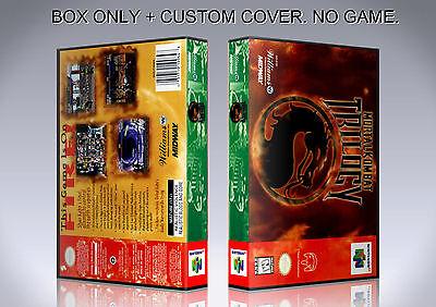 MORTAL KOMBAT TRILOGY. NTSC. Box/Case. Nintendo 64. BOX + COVER. (NO GAME). ()