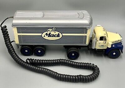 RARE Vintage Novelty MACK B-SERIES TRUCK REPLICA Telephone UNTESTED