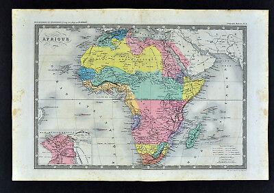 1864 Ansart Map - Africa  Cape Colony South Egypt Nubia Sahara Guinea Suez Canal