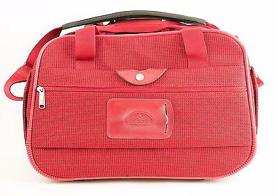 SAMSONITE Red Carry On Boarding Bag With Strap - Overnight Weekend Luggage 17""