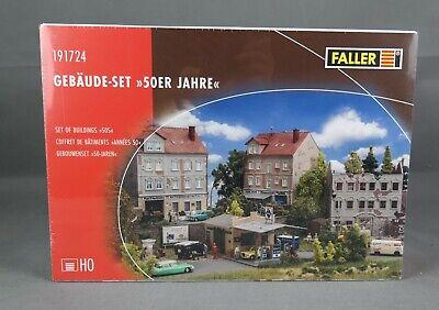 FALLER 191724 [H0, Bausatz] 4-tlg. Gebäude-Set 50er Jahre - NEUWARE!