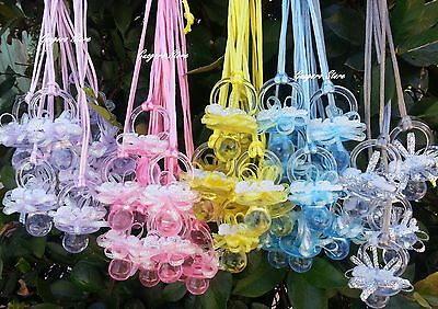 Baby Shower Pacifiers (Large Pacifier Necklaces Baby Shower Game Favors Prizes Decoration U~Pick)