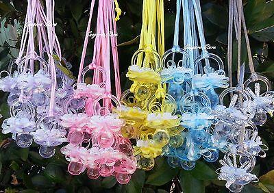 Large Pacifier Necklaces Baby Shower Game Favors Prizes Decoration U~Pick Colors - Pacifier Baby Shower Favors