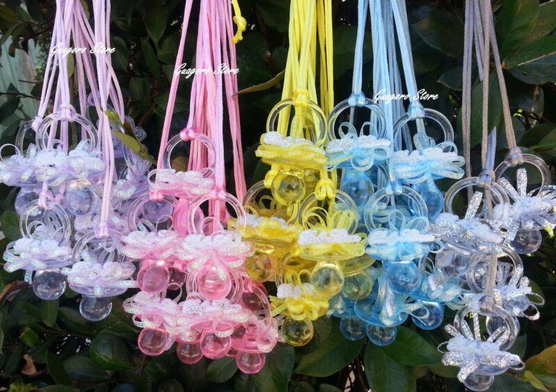 Large Pacifier Necklaces Baby Shower Game Favors Prizes Decoration U~Pick Colors