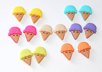 Sew Cute Ice Cream Cones /Jesse James Dress It Up Buttons / Sew-Thru Style #6933 James Ice Cream