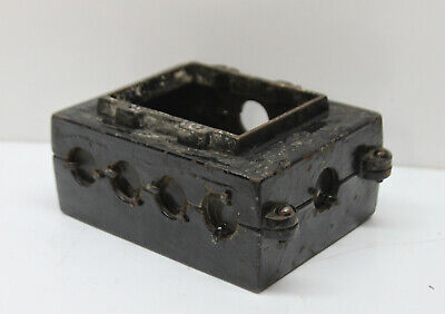 Vintage Metal Industrial 2-gang Electrical Switch Outlet Box Junction 4 Lbs