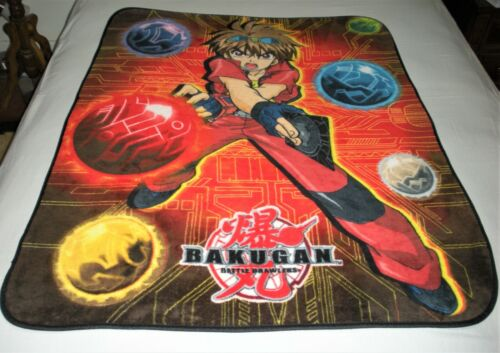Sega Bakugan Battle Brawlers Soft Plush Fleece Throw Blanket 39 x 51