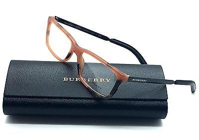 Burberry Womens Amber Eyeglasses B 2159 Q 3518 54mm Spotted Demo Lenses 5774